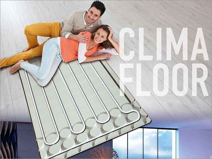 clima floor fu bodenheizung von polysan das 15 mm. Black Bedroom Furniture Sets. Home Design Ideas