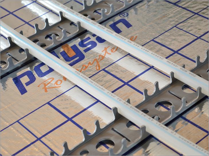 Fußboden Oder Wandheizung ~ Polysan wand und fußbodenheizung clip schienen system :: polysan